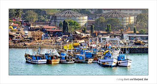 Fishing Boats and Boatyard, Goa