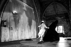 Black And White (stef demeester (catching up)) Tags: metaalkathedraal utrecht bw monochrome dance performance stefdemeester x70 fujifilmx70
