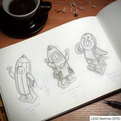 Sketches (LEMON ONE) Tags: lemonone lemonution minifig minifigure pencil rocketman rocketboy pencilsuit penguinsuit rocketsuit