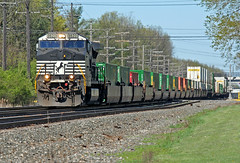 Another One Unit Wonder (craigsanders429) Tags: stacktrains nsstacktrains containertrains norfolksoutherntrains norfolksouthern nschicagoline olmstedfallsohio ns9820 nsmotivepower nslocomotives intermodaltrains nsintermodaltrains