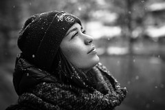 Snowflake (lucafoscili) Tags: outdoor beautiful beauty candid charming cold fashion fashionmodel fashionable female girl glamour goodlooking hair look makeup model moody outfit people portrait realpeople seducing snow snowing snowstorm snowy storm style winter woman young