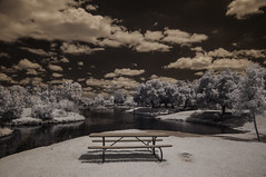 Table With A View (Bill Gracey 15 Million Views) Tags: santeelakes table water sky clouds nature polarizer ir infrared infraredphotography convertedinfraredcamera composition