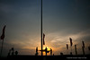 Guards fold the national flag at sunset (Dhammika Heenpella / Images of Sri Lanka) Tags: dhammikaheenpella srilanka 2017 imagesofsrilanka vesak wesak crowd galleface people religion කොළඹ ධම්මිකහීන්පැල්ල වෙසක් ශ්රීලංකාව ඉමේජස්ඔෆ්ශ්රීලංකා