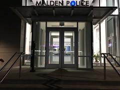 Malden - The Malden Police Station. (Polterguy30) Tags: entrances entrance doorways doorway doors door nightlights nightlight night architectures architecture policestation station police massachusetts malden