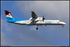 BOMBARDIER DASH8 Q402 Luxair LX-LQA 4468 Luxembourg avril 2017 (paulschaller67) Tags: bombardier dash8 q402 luxair lxlqa 4468 luxembourg avril 2017