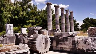 PRIENE Ancient City. The Temple of Athena ( Söke/ Turkey)
