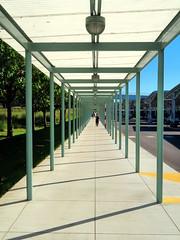 Corning Glass Home Office, Toledo, Ohio (duaneschermerhorn) Tags: vanishingpoint pedestrianwalkway corning glass