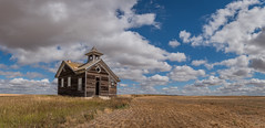 Empty All Over (Flint Roads) Tags: nd northdakota usa abandoned clouds decay deteriorated field forsaken old rural school schoolhouse