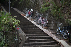 bicycle parking on the stairs (kasa51) Tags: bicycle parking stairs slope 自転車 駐輪場 階段 坂