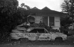 Who pimped my ride?????? (Miroku Bosatsu) Tags: honolulu hawaii nikon f2 photomic nikkor 20mm ud arista 400 bw caffenolc art flickr film analog shootfilm shootfilmnotmegapixels shootfilmstaybroke black white bnw lens