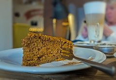 Delicious Carrot Cake (Cytat Cafe - Kazimierz (Jewish Quarter) (Fuji X70 28mm f2.8 Compact (markdbaynham) Tags: krakow cracow old town stare miasto city urban metropolis poland polen polska pl fuji fujix transx apsc fujinon 28mm f28 prime compact fujista fujifilm cake cytat cafe food