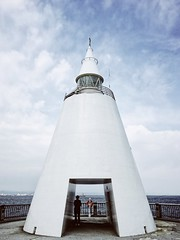 Modern Lighthouse (Costa Rica Bill) Tags: japan ocean sea lighthouse iphone vsco