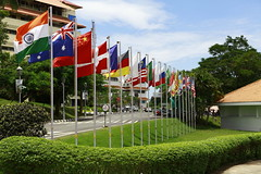 All flags under one roof #technopark, Trivandrum (Technopark Trivandrum) Tags: technopark