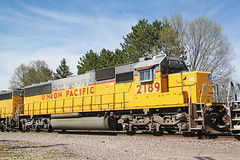 Sunny side of a '60 (AndyWS formerly_WisconsinSkies) Tags: train railroad railway railfan unionpacific up emd sd60 emdsd60 locomotive
