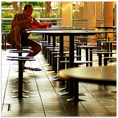 Chair kicking delicious - 1040657 (willfire) Tags: willfire singapore people leg chair hawker centre food street take notice shy conscious awareness habit
