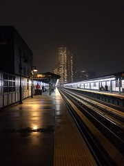1am court square (Robert A. Coles) Tags: fog mist night courtsquare subway newyork