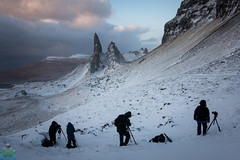 Old Man of Storr Sunrise - Isle of Skye Photography Workshop (James G Photography) Tags: april isleofskye oldmanofstorr photographyworkshop snow storr sunrise tuition winter workshop scotland unitedkingdom gb