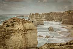 Some of Them (Lune Shadows (Larry Williams)) Tags: australia greatoceanroad sea twelveapostles beach rocks stacks waves