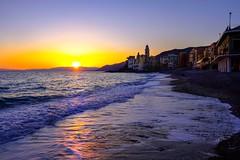 Camogli (GE) al tramonto (binoguzzi) Tags: camogli liguria tramonto sole mare sun sunset sea light panoramic panorama marino xf16 xf16mm fuji fujifilm fujilover fujixt10 fujifilmxseries fujix