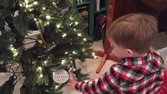 "Paul Puts An Ornament He Made at Lou Ann's on the Christmas Tree • <a style=""font-size:0.8em;"" href=""http://www.flickr.com/photos/109120354@N07/33629249534/"" target=""_blank"">View on Flickr</a>"