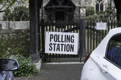 Unusual polling station, Brentwood, Essex (Ian Davidson photographer Protected by PIXSY www.p) Tags: brentwood church entrance essex essexcountycouncil government holy pollingstation religion sign southweald uk ballot council democracy democratic direction directional election elections oldfashioned political politics poll polling polls station voting