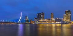 Rotterdam&Liberation Day (Wim Boon (wimzilver)) Tags: rotterdam bluehour canoneos5dmarkiii canonef1635mmf4lisusm night le nacht statief holland nederland netherlands