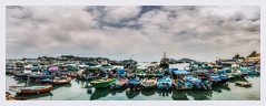Boats of Cheung Chau Island (Chas56) Tags: boats sea seaside island cheungchau hongkong sealife waterside harbour harbor safeharbour port panorama stitched canon canon5dmkiii water ocean fishing fishingvillage village travel travelphotography ngc