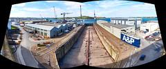 Queen Elisabeth Dock, Falmouth Docks (pierre_et_nelly) Tags: falmouthdocks falmouthharbour falmouth pendennisshipyard carrickroads cornwall kernow england queenelisabethdock dockno2 affinityphoto falmouthport harbour port dock docks dock2