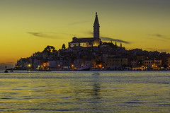 Golden hour..., Rovinj, Croatia (Zoltán Melicher) Tags: rovinj istria croatia sony nex7 sel1670z zeiss europe landscape city adriatic sea coast summer sunset church cityscape old town architecture building religion travel art history tradition