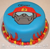 Heatwave Transformers Birthday Cake