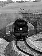 SwanageSpring2017-56 (Dreaming of Steam) Tags: 2017 34070 462 battleofbritainclass bulleid gala heritage heritagerailways manston railway steam steamengine swanage swanagerailway train vintage westcountry westcountryclass engine locomotive pacific railroad smoke steamlocomotive