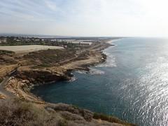 Uitzicht kustlijn bij Rosh HaNikra