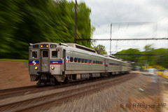 Rapid Acceleration @ Woodbourne, PA (Darryl Rule's Photography) Tags: 2017 buckscounty csx csxt catenary clouds cloudy diesel diesels doublestacks eastbound freight freighttrain ge intermodal local may pa pennsylvania q032 railroad railroads reading readingrailroad regionalrail septa signals spring train trains trentonsub ups widecab woodbourne yardley