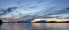 2017-05-12 Sunset (02) (3072x1360) (-jon) Tags: anacortes skagitcounty skagit washingtonstate washington salishsea fidalgoisland sanjuanislands pugetsound washingtonpark sunsetbeach rosariostrait guemeschannel pacificnorthwest pnw cloud clouds sky sunset water reflection composite stitched a266122photographyproduction