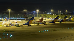 5 x 757 line up (COCOAJAMESON) Tags: boeing boeing757 757 boeing757200 manchesterairport manchester manairport man egcc airport airplane aircraft avgeek aviation aviationgeek aeroplane airliner nightshot nighttime lineup