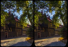 Wernigerode Oberpfarrkirchhof 3-D / Cross-Eye / Stereoscopy / HDR / Raw (Stereotron) Tags: sachsenanhalt saxonyanhalt ostfalen harz mountains gebirge ostfalia hardt hart hercynia harzgau wernigerode quietearth europe germany architecture fachwerk halftimbered house stud work antiquated medieval middleages crosseye crosseyed crossview xview cross eye pair freeview sidebyside sbs kreuzblick 3d 3dphoto 3dstereo 3rddimension spatial stereo stereo3d stereophoto stereophotography stereoscopic stereoscopy stereotron threedimensional stereoview stereophotomaker stereophotograph 3dpicture 3dglasses 3dimage twin canon eos 550d yongnuo radio transmitter remote control synchron kitlens 1855mm tonemapping hdr hdri raw