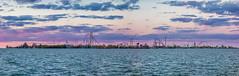 Cedar Point Skyline (Michael Boys) Tags: cedarpoint cedarfair lakeerie peninsula sanduskyohio americasrollercoast valravn magnumxl200 millenniumforce wickedtwister gatekeeper topthrilldragster bestamusementparkintheworld maverick rougarou raptor sunset panorama sonydscrx100 rx100