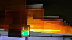Parkhaus (thetheaxel) Tags: parkhaus beleuchtung wegweiser yellow orange way