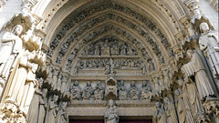 Amiens Cathedral, right portal tympanum