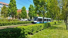 Belgische Buurttram (Peter ( phonepics only) Eijkman) Tags: amsterdam city combino gvb tram transport trams tramtracks rail rails strassenbahn streetcars trolley nederland netherlands nederlandse noordholland holland