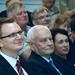Rétvári Bence, az Emberi Erőforrások Minisztériumának parlamenti államtitkára, a Kereszténydemokrata Néppárt alelnöke és Harrach Péter, a Kereszténydemokrata Néppárt frakcióvezetője