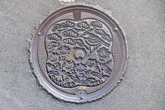 Ten'ei-mura manhole (Stop carbon pollution) Tags: japan 日本 honshuu 本州 touhoku 東北 fukushimaken 福島県