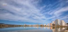 (251/17) Reflejo (Pablo Arias) Tags: pabloarias photoshop photomatix nxd españa cielo nubes arquitectura agua salinas reflejo calpe calp alicante comunidadvalenciana