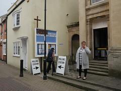 IN GOD WE TRUST (davemason) Tags: weymouth dorset street polling election church