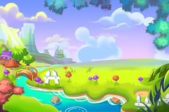 Creative Illustration and Innovative Art: Cute Cartoon Forest Land. Realistic Fantastic Cartoon Style Artwork Scene, Wallpaper, Story Background, Card Design (wallmistwallpaper) Tags: adorable art artwork asset background bank bridge card cartoon child clear cloud collage colorful cute day design drawing fancy fantastic field fine flower forest game good grass green illustration illustrator kid landscape leaf mountain mushroom nature paint plant postcard river scene sky story sunshine tree wallpaper water wild wildflower wish