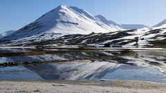 the many stunning textures of winter (lunaryuna) Tags: iceland landscape panoramicviews winter season seasonalbeauty olafsfjord fjord mountainrange water snow ice reflections seeingdouble thelightfantastic naturaltextures naturalabstract lunaryuna