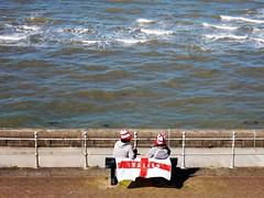 T'was on St. George's Day (deltrems) Tags: blackpool lancashire fylde coast stgeorgesday irish sea cross stgeorge