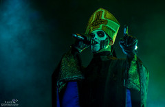 IMGP9855 (Lilith Photographyy) Tags: photography concertphotography concert ghost gothic goth music musicians singer guitarist bassist guitar bass metal portrait blackandwhitephotography blackandwhite satanist satanic evil devil pope demons popeemeritusiii makeup