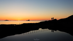 Silhouettes at Myklebust (Kurt Evensen) Tags: norway peoplesilhouettes silhouette sunset light reflection rogaland sky seascape sea myklebust water shore no