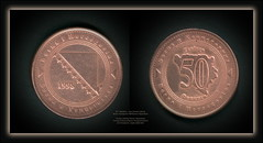 5811 Medallions - coins Obverse Lettering: Bosna i Hercegovina 1998 Босна и Херцеговина  Reverse Lettering: Босна и Херцеговина Feninga 50 Фенинга Bosna i Hercegovina Bosnia and Herzegovina  Copper plated Steel (Morton1905) Tags: 5811 medallions coins obverse lettering bosna hercegovina 1998 босна и херцеговина reverse feninga 50 фенинга bosnia herzegovina copper plated steel